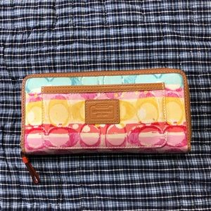 Multicolor Coach Wallet